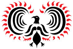 Tatuaje del vector de Phoenix Fotografía de archivo