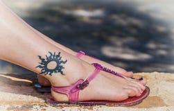 Tatuaje del verano Imágenes de archivo libres de regalías