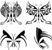 Tatuaje determinado de la mariposa Fotografía de archivo libre de regalías