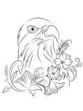 Tatuaje Eagle Coloring Page del vector Fotos de archivo