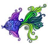 Tatuaje exótico Decorative-1 de los pescados Imágenes de archivo libres de regalías