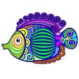 Tatuaje exótico Decorative-3 de los pescados Imagen de archivo libre de regalías