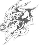 Tatuaje gris del dragón Fotos de archivo