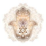 Tatuaje judío del hamsa ilustración del vector