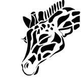 Tatuaje lindo de la jirafa para colorear stock de ilustración