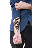 Tatuaje ocultado fotografía de archivo libre de regalías