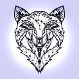 Tatuaje salvaje del lobo Imágenes de archivo libres de regalías