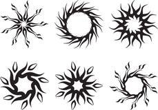 Tatuaje Sun Foto de archivo libre de regalías