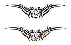Tatuaje tribal aislado del tigre ilustración del vector
