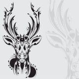 Tatuaje tribal de la cabeza de los ciervos Imágenes de archivo libres de regalías