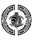 Tatuaje tribal de la tortuga stock de ilustración