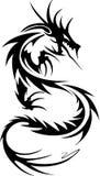 Tatuaje tribal del dragón Fotografía de archivo