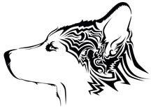 Tatuaje tribal del lobo Imagenes de archivo