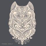 Tatuaje tribal del tótem del lobo del estilo del vector Fotos de archivo