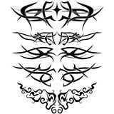 Tatuajes fijados Imagenes de archivo