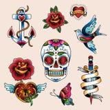 Tatuażu set Zdjęcia Stock