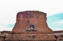 Tatue of Buddha at Wat Mahatat, Ayutthaya Stock Images