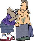 tatuera dig Arkivfoton