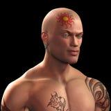 tatuerad man stock illustrationer