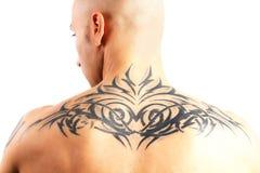 Tatuerad man Arkivbilder