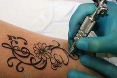 tatuering Arkivfoton
