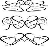 tatuering för element för konstillustrationsdesign stam- blom- vektor illustrationer