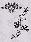 tatuering för fantasiphoenix silhouette Royaltyfria Foton
