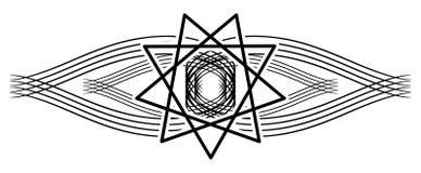 Tatuering för helig ande på isolerad svart garnering royaltyfri illustrationer