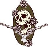 tatuering för stil för ro för trycksprutaillustrationpistoler Arkivbilder