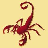 Tatuering i skorpion royaltyfri illustrationer