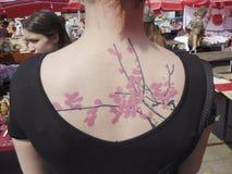 Tatuering som ett mode Fotografering för Bildbyråer