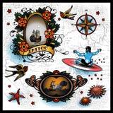 tatueringar stock illustrationer