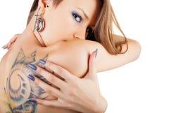 Tatueringar och piercings Fotografering för Bildbyråer