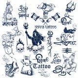 Tatueringkonstdesign av den Lord Shiva samlingen Royaltyfria Foton