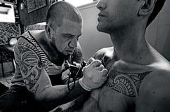Tatueringkonstverk royaltyfria bilder