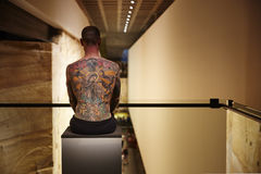 Tatueringkonstverk MONA Hobart Royaltyfri Bild