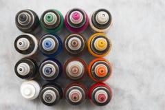 Tatueringmålarfärgfärger Arkivbilder