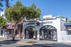 Tatueringmottagningsrum i Key West Fotografering för Bildbyråer