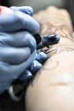 Tatueringperiodskassaskåp och rengöring Fotografering för Bildbyråer
