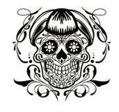 Tatueringskalle arkivfoto