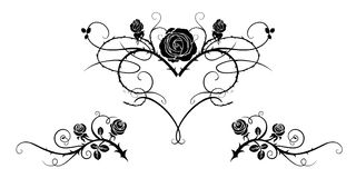Tatueringsvartbild stock illustrationer