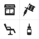 Tatueringsymboler royaltyfri illustrationer