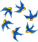Tatueringvektorfåglar Royaltyfri Fotografi
