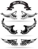 tatueringvingar Royaltyfria Bilder