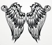Tatueringvingar Fotografering för Bildbyråer