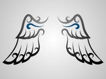 tatueringvinge vektor illustrationer
