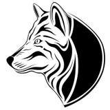 tatueringwolf stock illustrationer