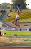 Tatyana Lebedeva: salto de longitud Imagen de archivo