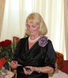 Tatyana Petrovna Lagutin - maken av den legendariska boxaren Boris Lagutin Arkivbild