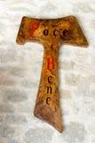 TAU,阿西西圣法兰西斯的标志  库存照片